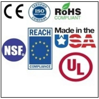 Certifications on a product-detail page.