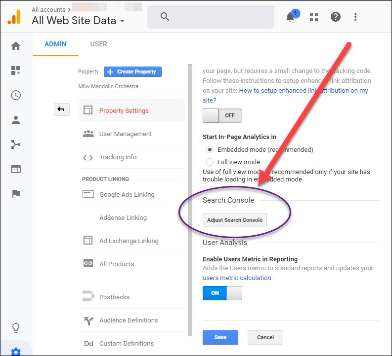 Adjust Search Console Data