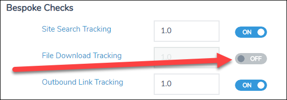 Where to turn off file download tracking