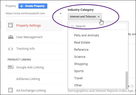 Industry Category List GA