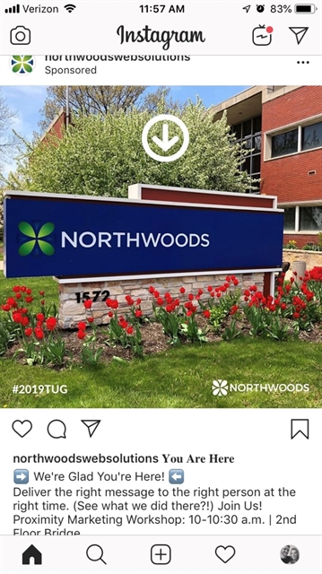 Northwoods Facebook Example