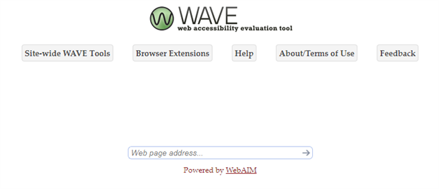 WAVE chrome extension