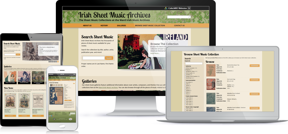 Irish Sheet Music Archvies - Screen Shot 1