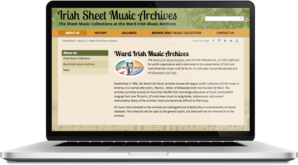 Irish Sheet Music Archvies - Screen Shot 3