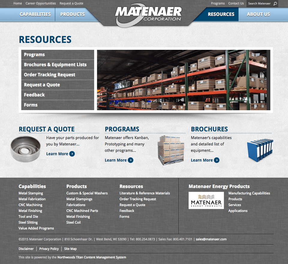 Matenaer Corporation - Screen Shot 2
