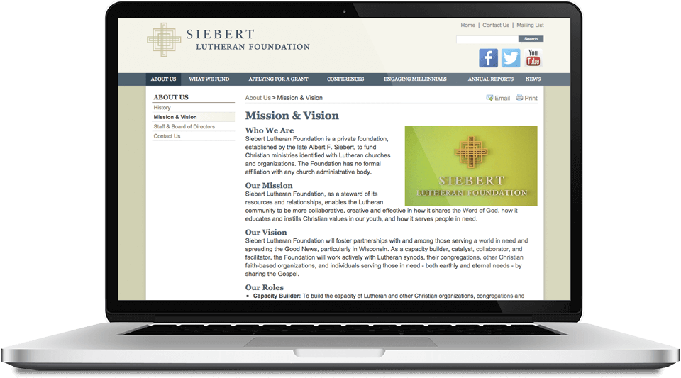 Siebert Lutheran Foundation - Screen Shot 3