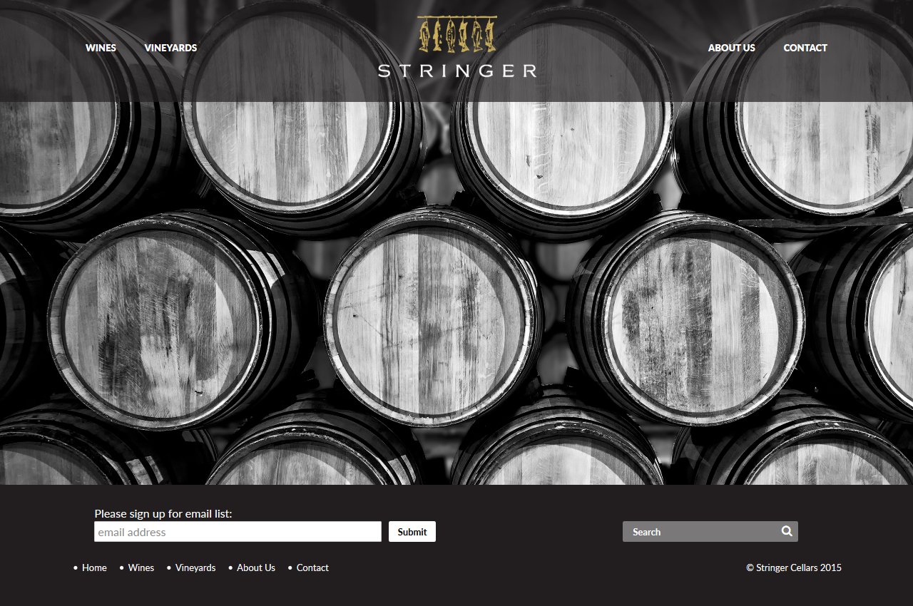 Stringer Cellars - Screen Shot 2