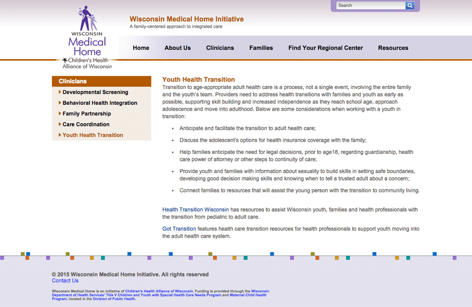 Wisconsin Statewide Medical Home Initiative (WiSMHI) - Screen Shot 2
